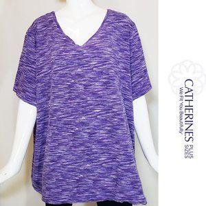 Plus Size Purple V neck Tunic Size 3X